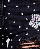 Diamanten Embellished Distressed Jean