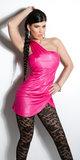 Sexy Oneshoulder minidress in Fuschia