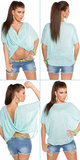 Sexy wrap shirt 2 way style in munt_