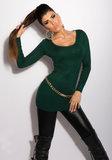 Sexy KouCla Longsweater met kettingen op de rug