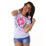 Sexy Jela London Shirt TS464 in Wit