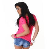 Sexy Jela London Shirt TS464 in Fuschia