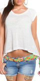 Trendy KouCla High Low Shirt in wit