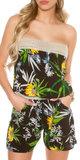Sexy Bandeau Playsuit met Floral Print
