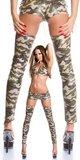 Sexy GoGo Latex Tight High Leg Warmers in Army