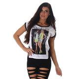 Sexy Shirt met Print TS431 in Zwart
