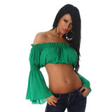 Sexy Jela London Latina Top L363 in Groen