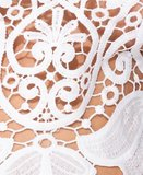 Cutwork Lace Strappy Crop Top