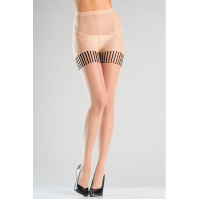 Panty Met Gestreepte Kousen Design