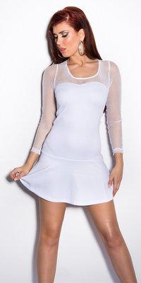 Sexy Minidress met Netapplication in Wit