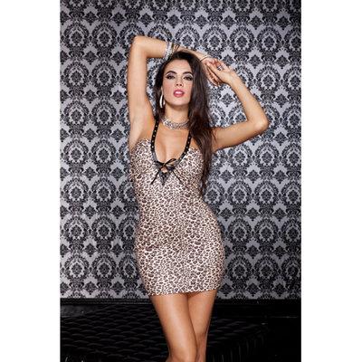 Sexy mini jurkje met luipaard print