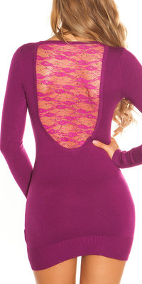 Sexy KouCla Longsweater met Kant en Studs in Violet
