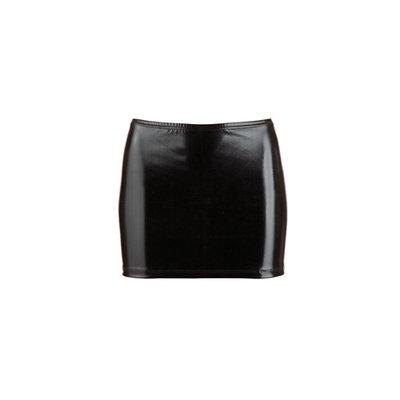 Wetlook Mini Rokje - Zwart