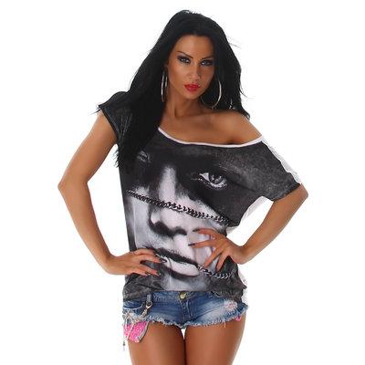 Sexy Jela London Shirt W-3568 in Wit