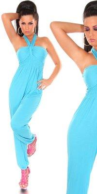 Sexy KouCla Neckholder Jumpsuit in Turquoise