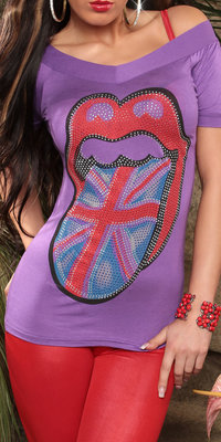 Coole shirt in London-Style in paars