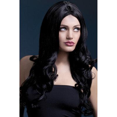Lange Gekrulde Pruik - Zwart
