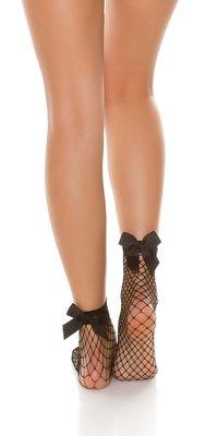 Sexy Net Sok met Strik in Zwart