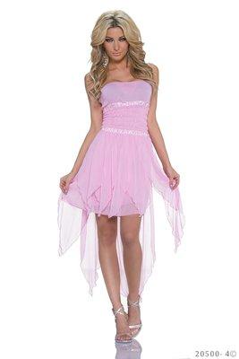 Sexy zijde mini jurk van ZMG in Roze