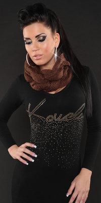 Trendy Loop Sjaal in Bruin