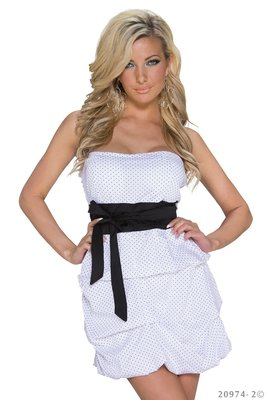 Sexy mini jurk van Pronta Moda in Wit