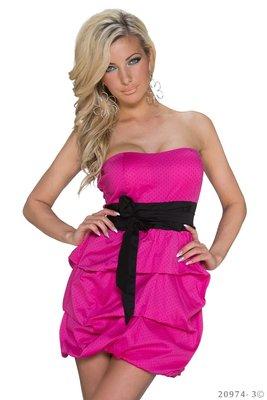 Sexy mini jurk van Pronta Moda in Fuschia
