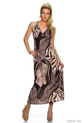 Sexy maxi jurk van Magnifique in donker bruin/bruin
