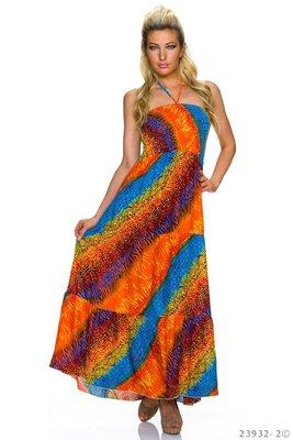 Sexy maxi jurk van Miss 83 in multi oranje