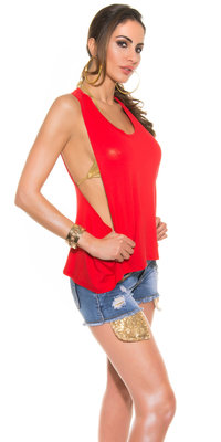 "Sexy KouCla Tank Top ""Sexy Back"" in Rood"