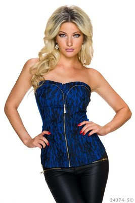 Sexy Bandeau Top van LV & Gold in Blauw