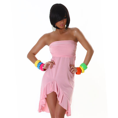 Sexy Bandeau Jurk 001 in Roze