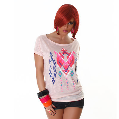 Sexy Jela London Shirt TS464 in Roze