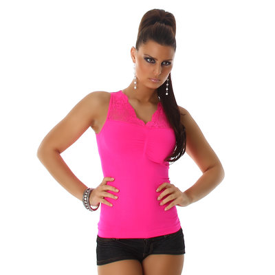 Sexy top met Kant VM-135 in fuschia