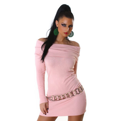 Sexy Jela London Long Pullover JL-6001 in Roze