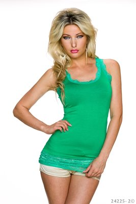 Sexy Top met Kant in Groen