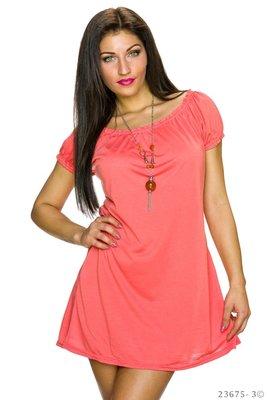 Sexy long shirt / mini jurk in Oranje