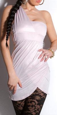 Sexy Oneshoulder minidress in Rose