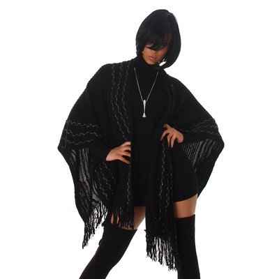 Sexy Jela London poncho in zwart
