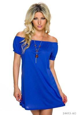 Sexy long shirt in royal blauw