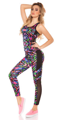 Sexy Workout Outfit met Topje & Leggings in Fuschia