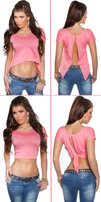 Sexy KouCla 2Way Crop Top in Zalm