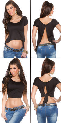 Sexy KouCla 2Way Crop Top in Zwart
