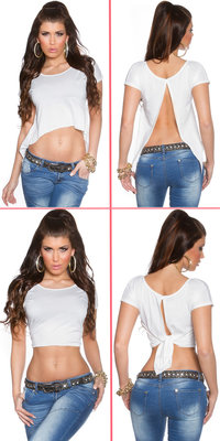 Sexy KouCla 2Way Crop Top in Wit
