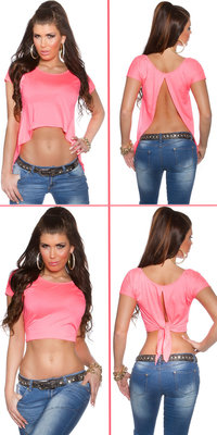Sexy KouCla 2Way Crop Top in Fuschia
