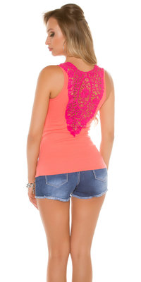 Sexy KouCla Tanktop LiLi met Embroidery in Coral
