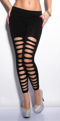 Sexy 7/8 leggings met Cut-Outs in Zwart