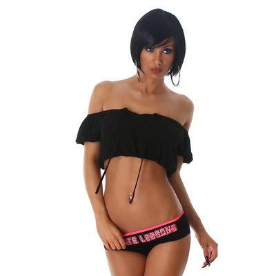 Sexy Latin Jela London Top L305 in Zwart