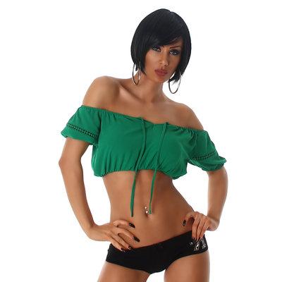 Sexy Latin Jela London Top L305 in Groen