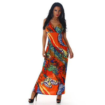 Sexy Jela London Maxi Dress 11584 in Oranje