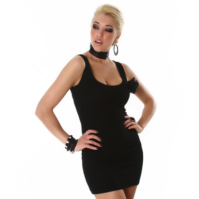 Sexy Jela London Jurk 2154 in Zwart